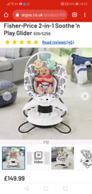 Fisher price 2 in 1 soothe and glider