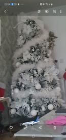 Flocked 7ft Christmas tree