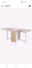 Drop leaf dining table with storage