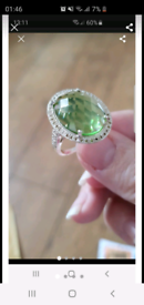 Silver lime ring