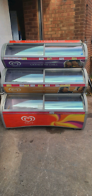 Walls commercial ice cream display freezer fully working with guaranty