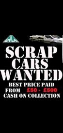All Scrap cars, vans, 4x4, pickups, wanted,
