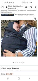 Close caboo baby carrier