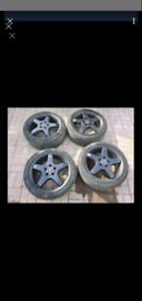 "18"" 5x112 Original Mercedes benz AMG alloy wheels W204 W203 C CLASS"