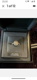 BEAVERBROOKS 9CT WHITE GOLD .31CT DIAMOND ENGAGEMENT RING IN EXCELLENT