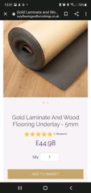 Laminate/Engineered Wood flooring underlay