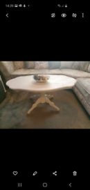 Shabby chic vintage look coffee table
