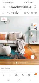 Brand new stunnibg flat weave rug vibrant size 115x180cm cosg £95.95