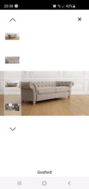 Next Gosford Large Sofa Silver