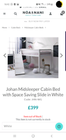 Midsleeper bed