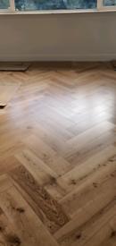 Engineered wood Herringbone flooring
