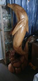 6ft solid oak dolphin