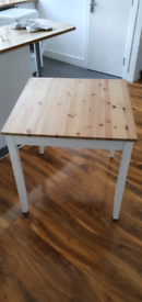 IKEA LERHAMN Dining Table, light antique stain/white stain 74x74 cm
