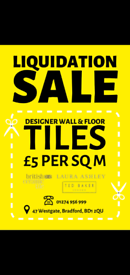 Joblot Tile Warehouse Clearance 70% Off!!!