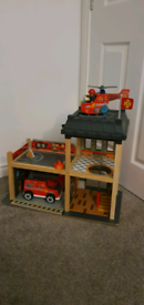 Wooden fire station immaculate