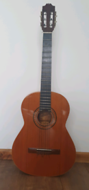 Admira Sevilla solid top classical guitar full size vintage 1980's