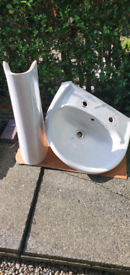 Wash hand basin and pedestal