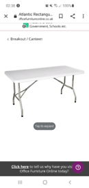 Folding table and 4 Folding chairs