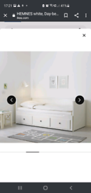 Ikea hemnes day bed(with two mattresses)