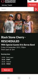 Black Stone Cherry (Cardiff 24 Sept)