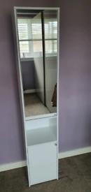 Bathroom storage with mirror