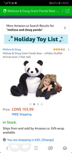 Melissa and doug giant panda bear stuffed animal