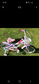 Girls bike with basket