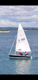 Laser 13 sailing dinghy with trailer