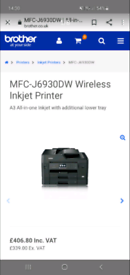 brother printer business smart series mfc-j6930dw rrp £400