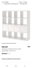KALLAX Shelving unit with 4 inserts,