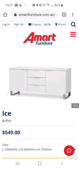 check out ebc87 2ff43 Amart furniture Ice Buffet (storage) | Buffets & Side Tables ...
