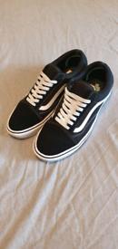 Men's Black Old Skool Comfy Fit Vans UK Size 8.5