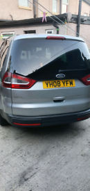 Silver Ford 7 seater galaxy 08 plate