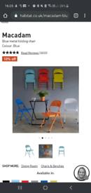 WHITE habitat folding chair