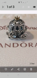 New Pandora cinderella pumpkin coach charm