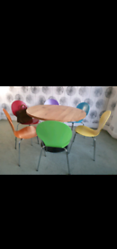 6 multi colour dining or office chairs
