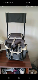 Rucksack chair, brand new, ideal for camping or hiking.
