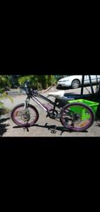 Girls mountain bike near new $125 paif over $400