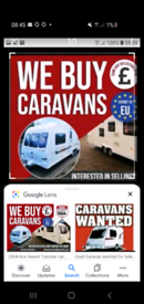 ALL TOURING CARAVANS URGENTLY REQUIRED