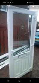 Upvc white front door
