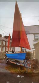 Drascombe Dabber sailing/ motor boat.
