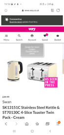Microwave kettle and toaster set