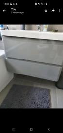 Grey Bathroon Vanity Unit With sink