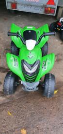 Kids green ELECTRIC quad bike and polce bike for sale