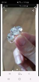 Silver diamante ring