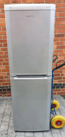 Silver Beko fridge freezer _ free delivery