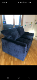 Navy velvet MultiYork sofa