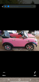 Childs mini cooper and a trike