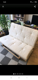 Ikea Double Wooden Folding Futon Sofabed with Mattress