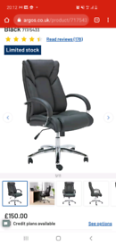Leather office chair - ALMOST NEW from Argos